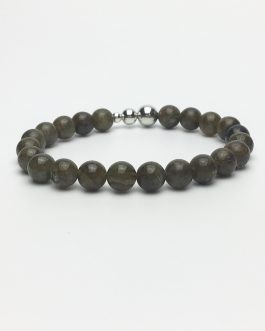 Labradorite and Sterling Silver Bead Bracelet