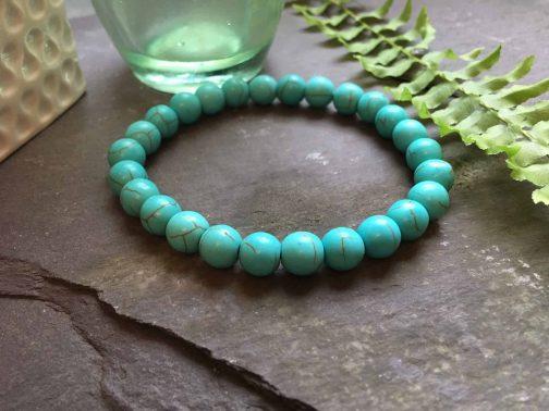 Cool Green Turquoise Bead Bracelet