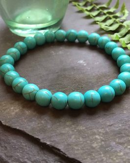Cool Green Turquoise Bead Bracelet