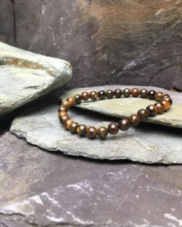 6mm Tigers Eye Bead Bracelet.