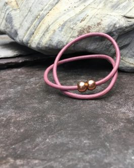 3mm Lilac Leather Double Wrap Bracelet