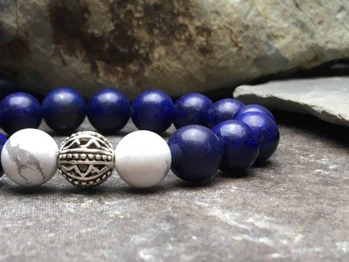 lapis lazuli and howlite bracelet