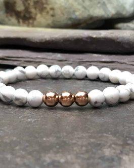 howlite beaded bracelet