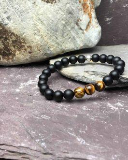 Onyx and Tigers Eye Grade A Bracelet