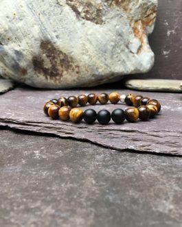 Tigers Eye and Onyx Grade A Bracelet