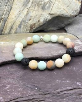 10mm Frosted Amazonite Bracelet