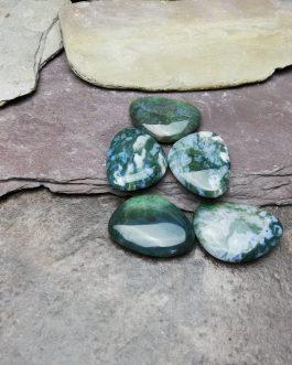 Green Moss Agate Thumb Stone