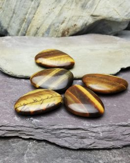 Tigers Eye Thumb Stone