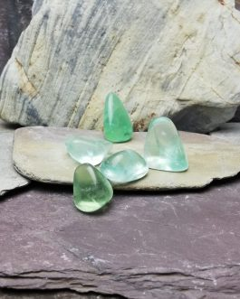 Green Flourite Tumble Stones