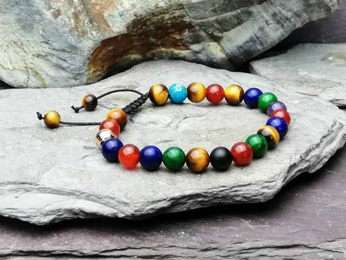 Multi Gemstone Beaded Bracelet