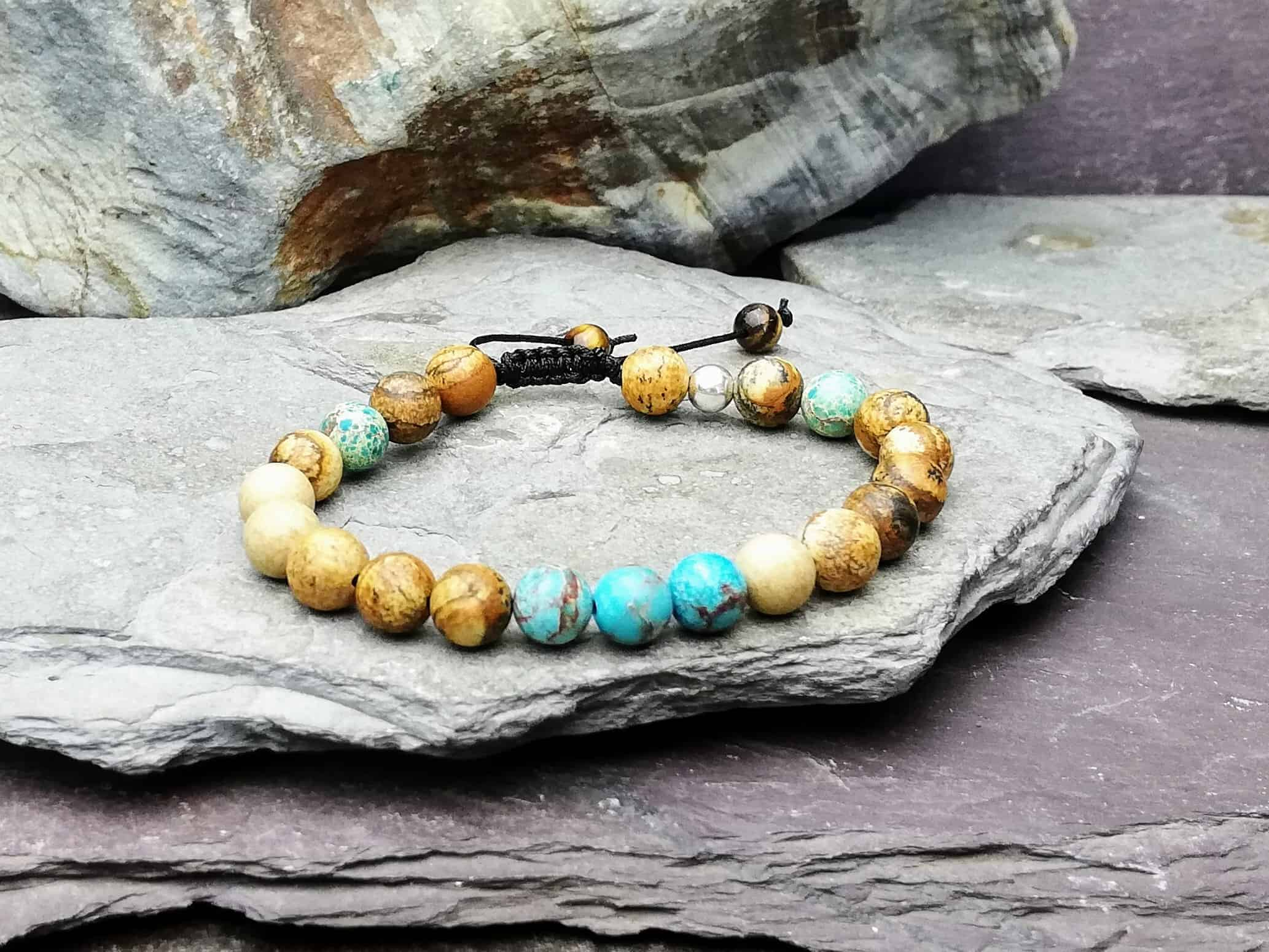 picture jasper and impression jasper bracelet