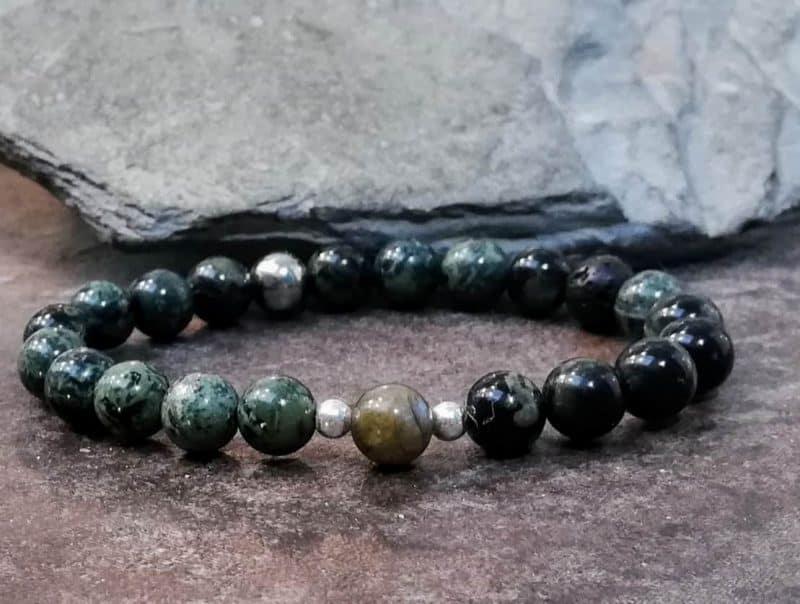 Kambaba and Labradorite Bracelet