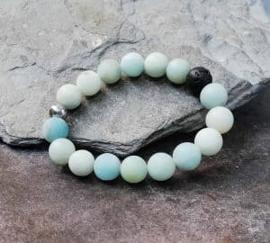 amazonite beaded diffuser bracelet