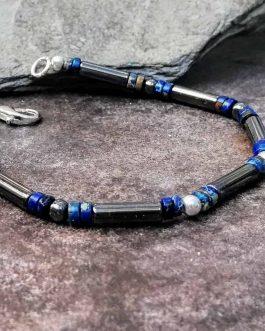 hematite bracelet with jasper