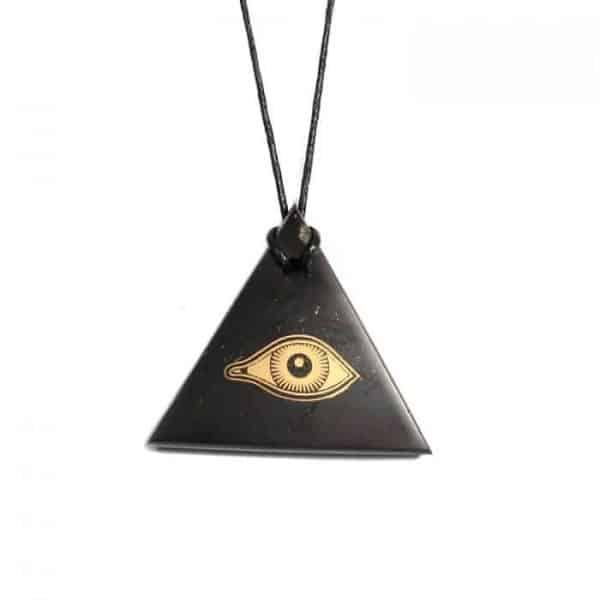 shungite pendant eye of horus
