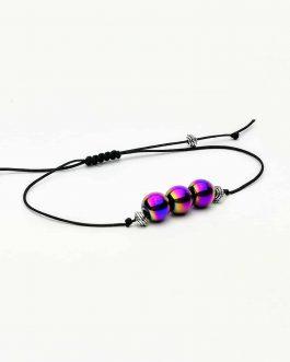 rainbow hematite bead bracelet