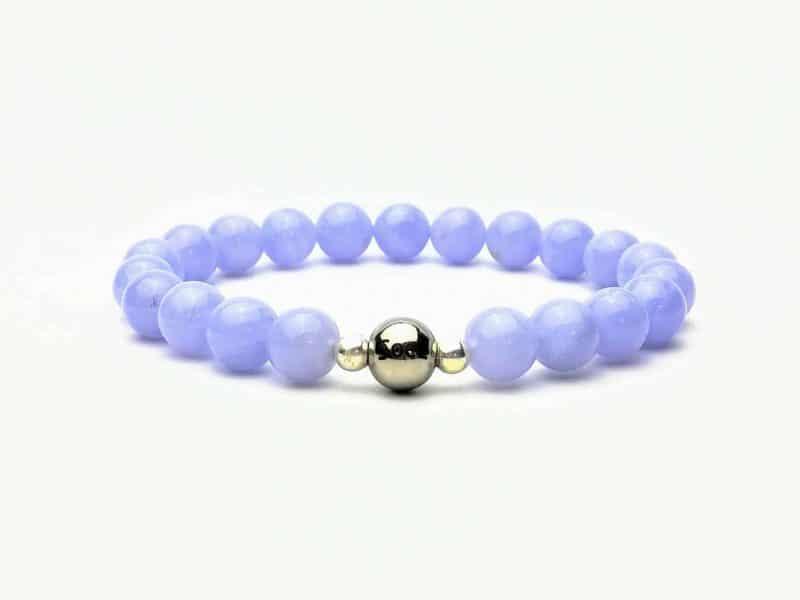 Blue Lave Agate 8mm Beaded Bracelet