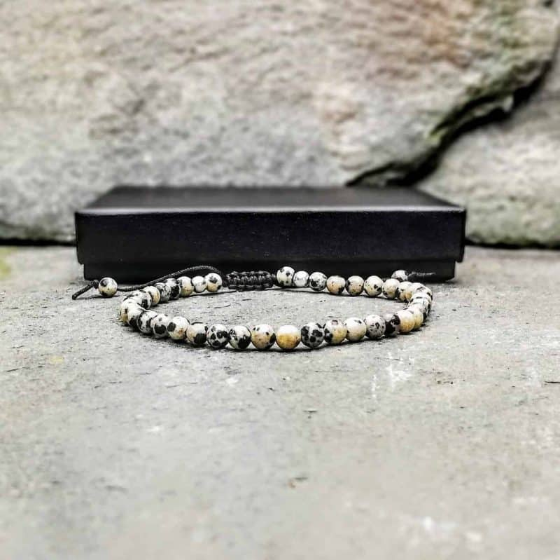 4mm Dalmatian Jasper Bracelet
