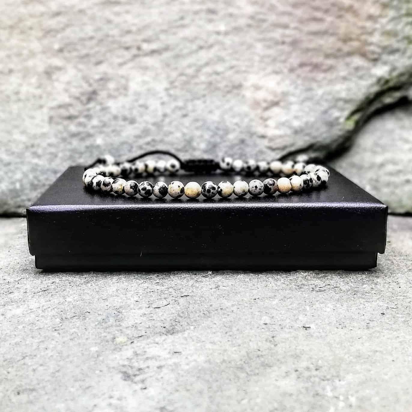 Dalmatian Jasper 4mm Bracelet