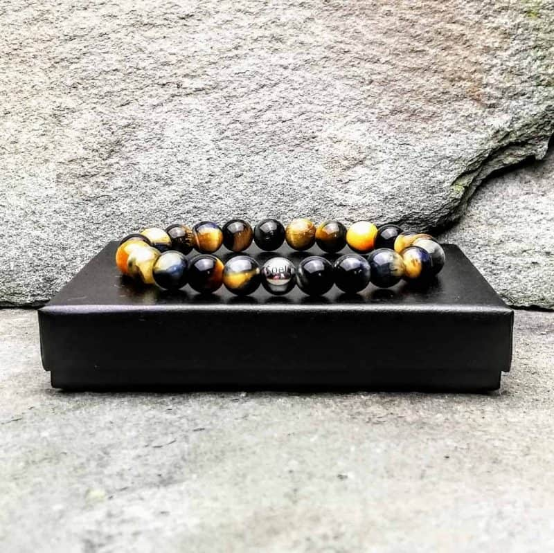 Fancy Tigers Eye Beaded Bracelet