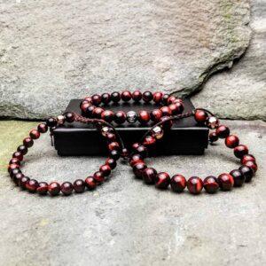 Red tigers eye Bracelets