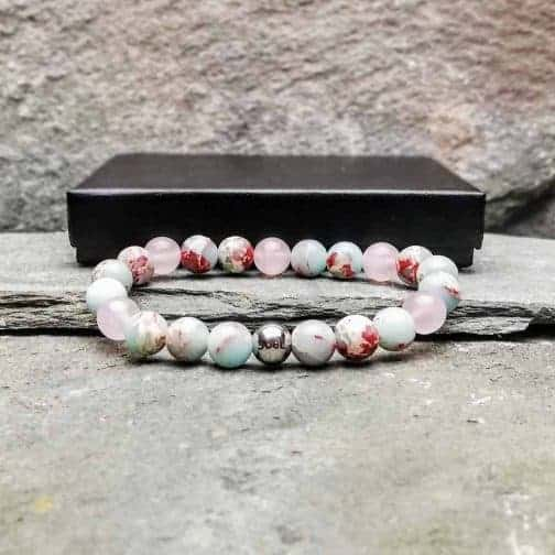 emperor jasper and rose quartz bracelet