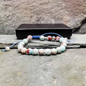 emperor jasper slide knot bracelet