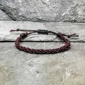 brown and black braided bracelet