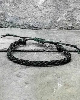 black and green braided bracelet