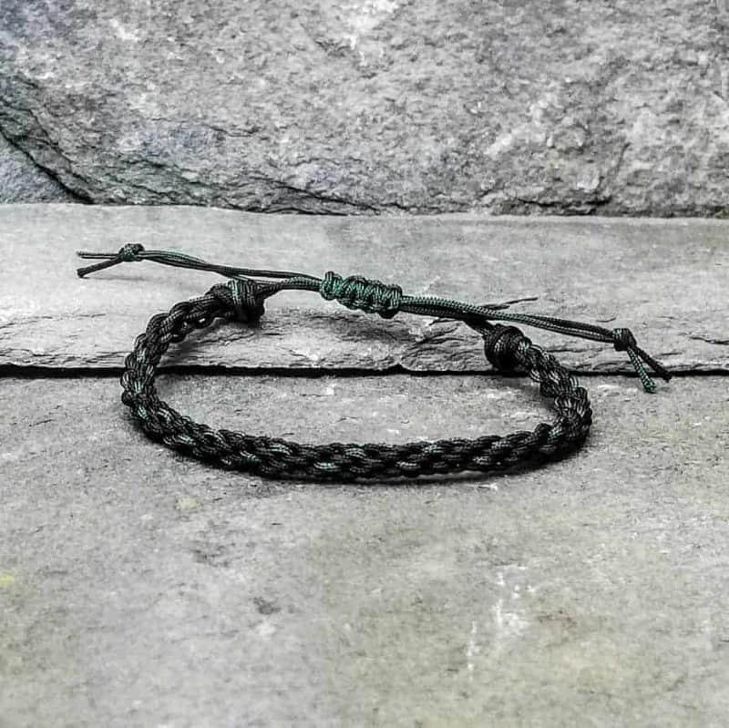 black and green braided bracelet