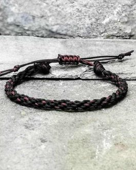 black and brown braided bracelet