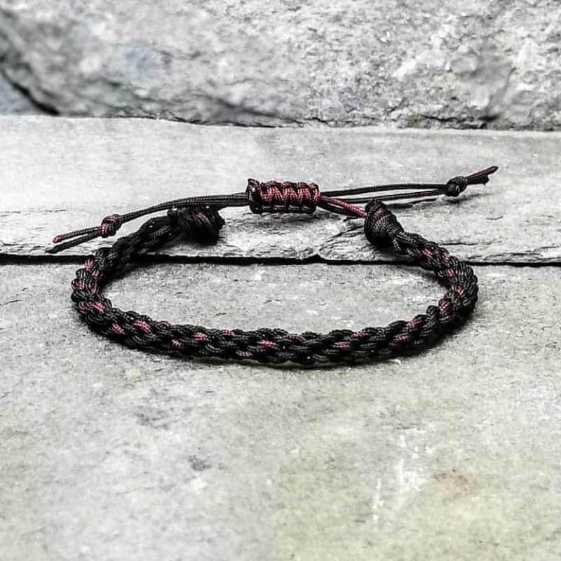 black and brown braided bracelet