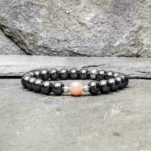 Hematite and Sunstone Bracelet