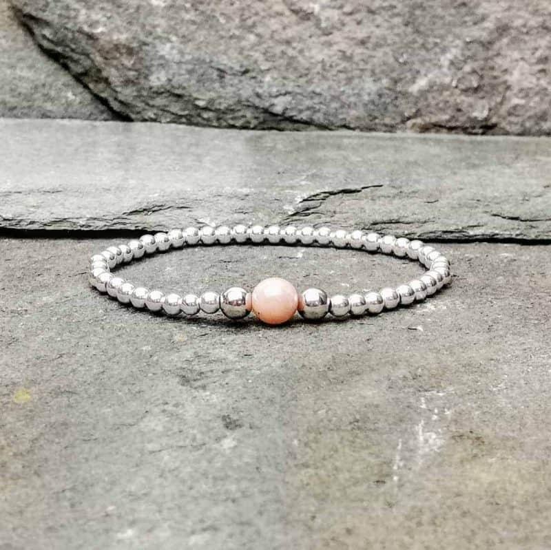 Sterling Silver and Sunstone Bracelet