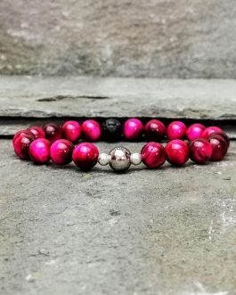 Pink Tigers Eye Beaded Bracelet Diffuser