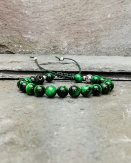 Green Tigers Eye Beaded Bracelet