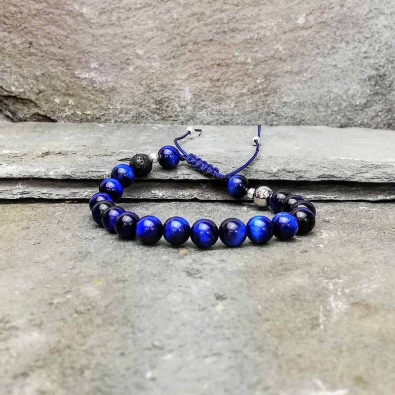 Blue Tigers Eye Diffuser Bracelet