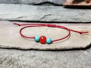 Turquoise and Carnelian Friendship Bracelet