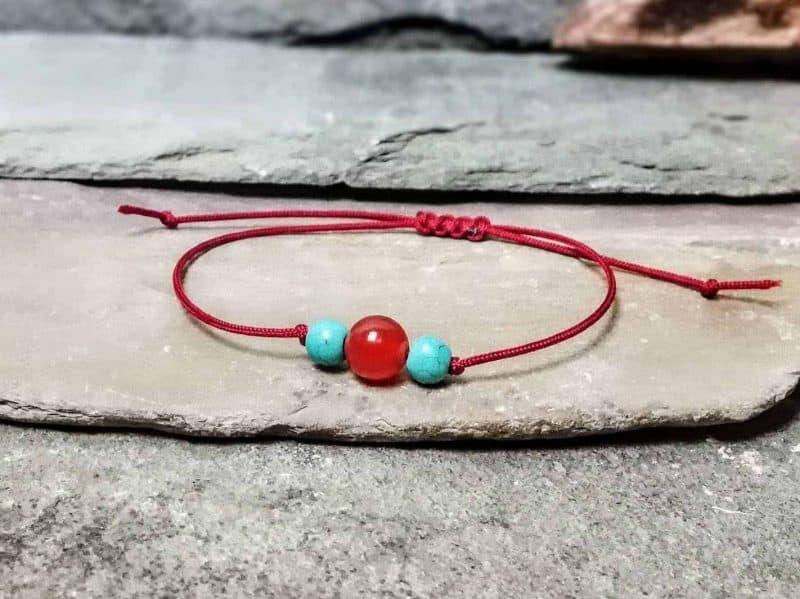 Turquoise and Carnelian Friendship Bracelet