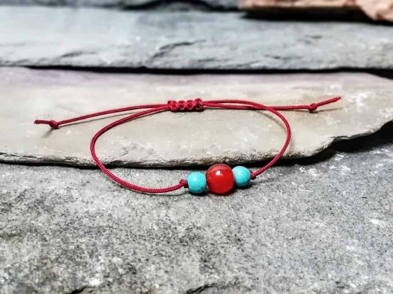 Carnelian and Turquoise Friendship Bracelet