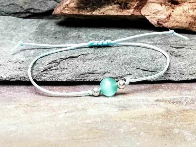 cats eye bead bracelet chrysoberyl
