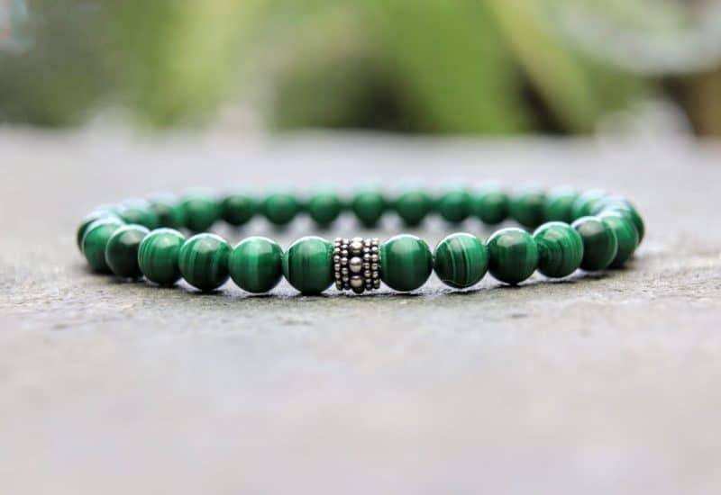 6mm Premium Malachite Beaded Bracelet