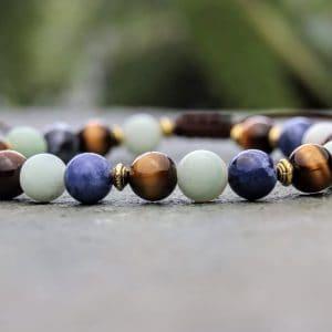 Multi gemstone beaded bracelet