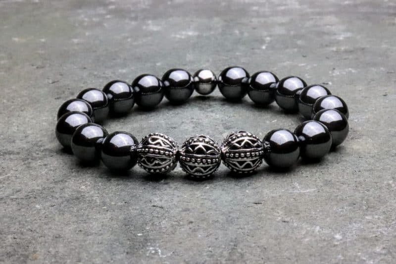 10mm Tibetan Style Hematite Beaded Bracelet