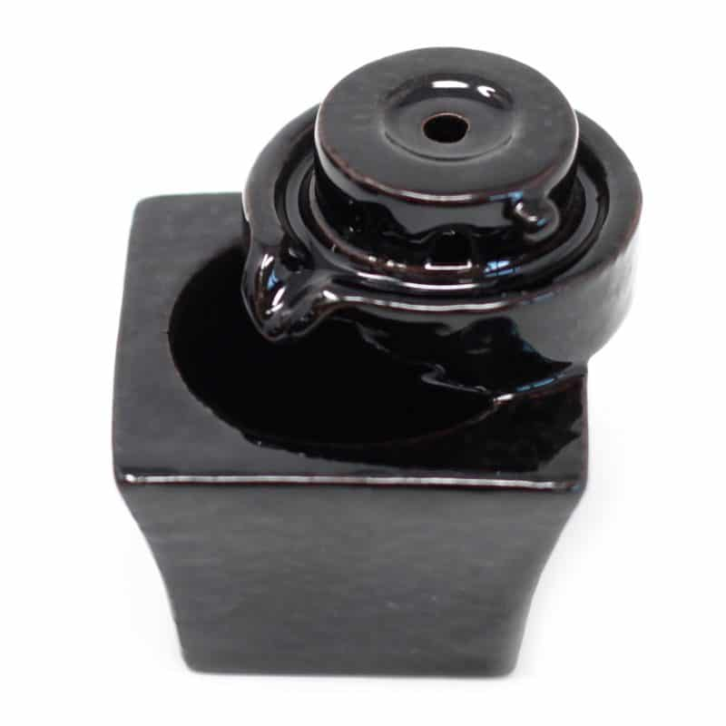 Round to square backflow incense burner