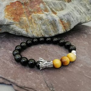Onyx and Tigers Eye Beaded Diffuser Bracelet